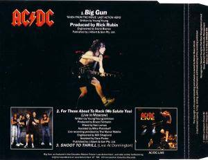 AC/DC: Big Gun (Single-CD) - Bild 2