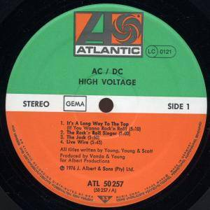 AC/DC: High Voltage (LP) - Bild 2