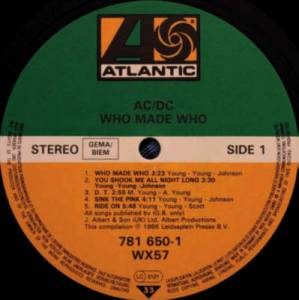 AC/DC: Who Made Who (LP) - Bild 4