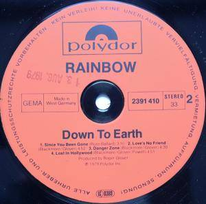 Rainbow: Down To Earth (LP) - Bild 6