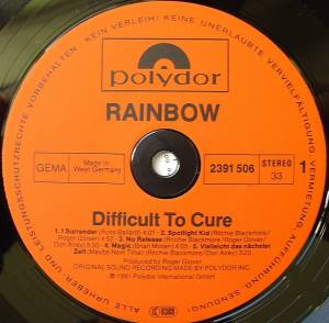 Rainbow: Difficult To Cure (LP) - Bild 5