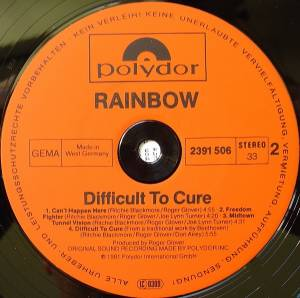 Rainbow: Difficult To Cure (LP) - Bild 6