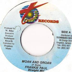 Cover - Frankie Paul: Moan And Groan