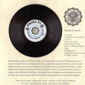 Prinz Pi: Rebell Ohne Grund (Promo-CD) - Bild 3