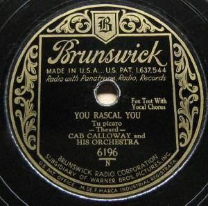 Cover - Cab Calloway & His Orchestra: You Rascal You