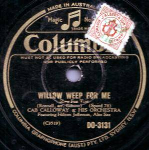 Cover - Cab Calloway & His Orchestra: Willow Weep For Me