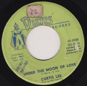 Cover - Curtis Lee: Under The Moon Of Love