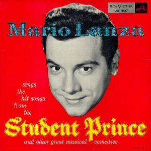 Cover - Mario Lanza: Mario Lanza Sings The Hit Songs From The Student Prince And Other Great Musical Comedies