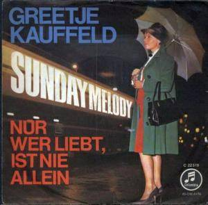 Cover - Greetje Kauffeld: Sunday Melody