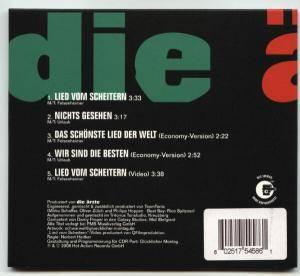Die Ärzte: Lied Vom Scheitern (Single-CD) - Bild 2