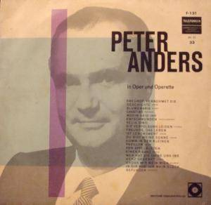 Peter Anders In Oper Und Operette - Cover