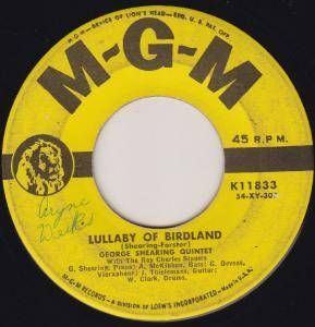 Cover - George Shearing Quintet: Lullaby Of Birdland