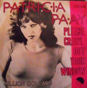 Cover - Patricia Paay: Please Crawl Out Your Window