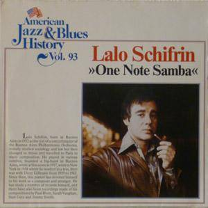 Cover - Lalo Schifrin: One Note Samba - American Jazz & Blues History Vol. 93
