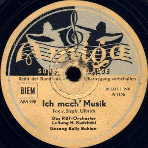 Cover - Bully Buhlan: Ich Mach' Musik / Swing It, Mr. Kreutzer