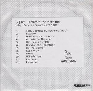 Cover - [X]-RX: Activate The Machinez