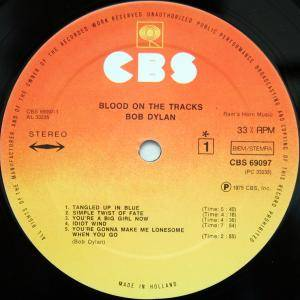 Bob Dylan: Blood On The Tracks (LP) - Bild 3