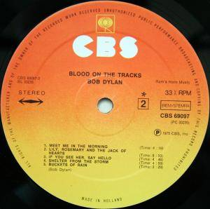 Bob Dylan: Blood On The Tracks (LP) - Bild 4
