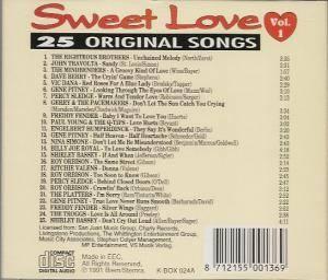 sweet love vol 1 25 original songs cd 1991 compilation. Black Bedroom Furniture Sets. Home Design Ideas