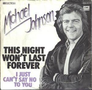 Cover - Michael Johnson: This Night Won't Last Forever