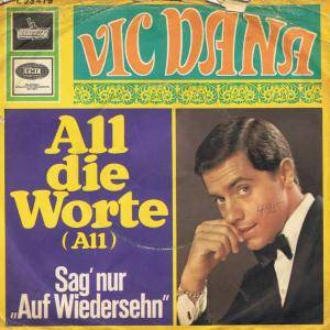 Cover - Vic Dana: All Die Worte