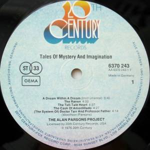 The Alan Parsons Project: Tales Of Mystery And Imagination - Edgar Allan Poe (LP) - Bild 2
