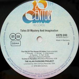 The Alan Parsons Project: Tales Of Mystery And Imagination - Edgar Allan Poe (LP) - Bild 3