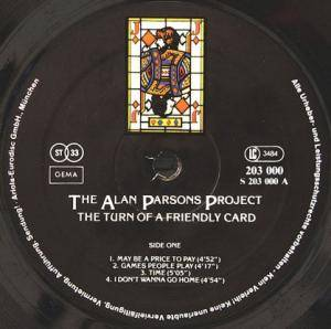 The Alan Parsons Project: The Turn Of A Friendly Card (LP) - Bild 3