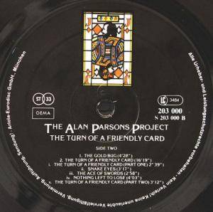 The Alan Parsons Project: The Turn Of A Friendly Card (LP) - Bild 4