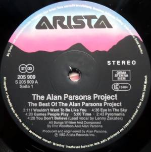 The Alan Parsons Project: The Best Of The Alan Parsons Project (LP) - Bild 3