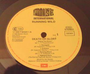 Running Wild: Death Or Glory (LP) - Bild 2