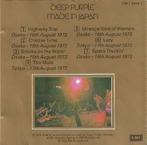 Deep Purple: Made In Japan (CD) - Bild 4