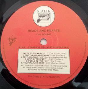 The Sound: Heads And Hearts (LP) - Bild 4