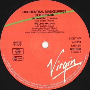 "Orchestral Manoeuvres In The Dark: We Love You (12"") - Bild 4"
