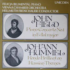 Cover - John Field: Piano Concerto No. 1 In E Flat Major - Rondo Brilliant On Russian Themes