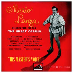 "Cover - Mario Lanza: Melodies From The Film ""The Great Caruso"""