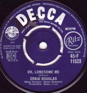 Cover - Craig Douglas: Oh, Lonesome Me