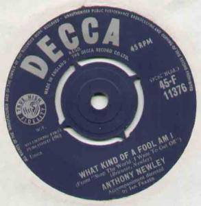 Cover - Anthony Newley: What Kind Of Fool Am I