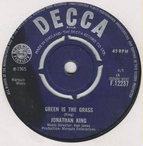 Cover - Jonathan King: Green Is The Grass