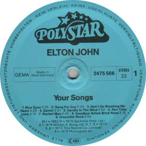 Elton John: Your Songs (LP) - Bild 3