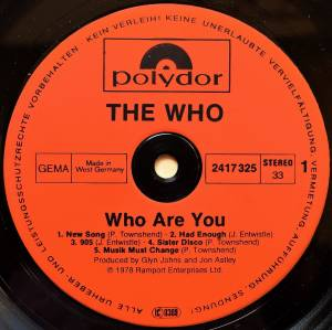 The Who: Who Are You (LP) - Bild 3