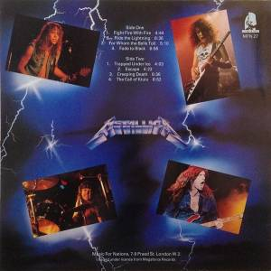Metallica: Ride The Lightning (LP) - Bild 2