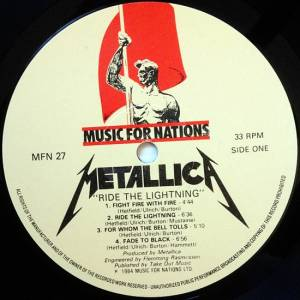 Metallica: Ride The Lightning (LP) - Bild 5