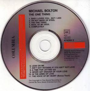 Michael Bolton: The One Thing (CD) - Bild 2