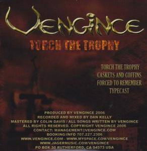 Cover - Vengince: Torch The Trophy