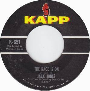 Cover - Jack Jones: Race Is On, The