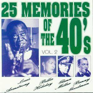 Cover - Ink Spots, The: 25 Memories Of The 40's - Vol.2