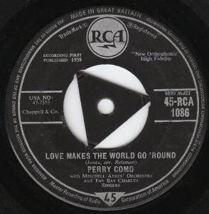 Perry Como: Love Makes The World Go Round - Cover