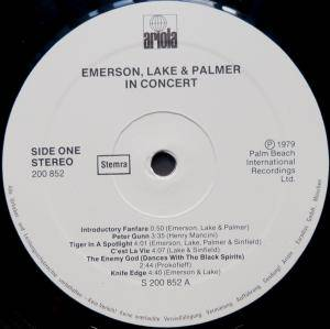 Emerson, Lake & Palmer: In Concert (LP) - Bild 3
