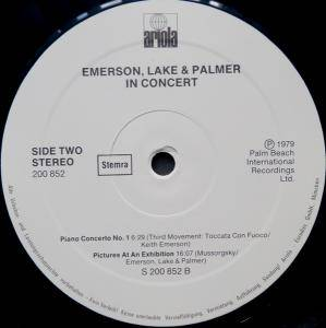 Emerson, Lake & Palmer: In Concert (LP) - Bild 4